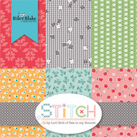 Riley Blake Fabrics - Charm Pack - Stitch by Lori Holt of Bee in my Bonnet