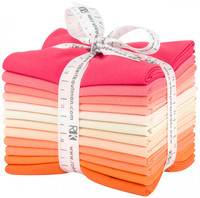 Robert Kaufman Fabric Precuts - Fat Quarter Bundle - Kona Cotton - Melon Ball Palette