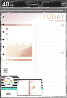 The Happy Planner - Me and My Big Ideas - Big Refill Note Paper - Full Sheet - Faith Daily Schedule and Gratitude (Checklist, Hourly & Dot Grid)