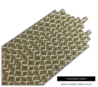 25 Paper Straws - Gold Demask - #PS3