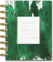 The Happy Planner - Me and My Big Ideas - Deluxe Classic Happy Planner - 2022 Work Hard - 12 Months (Dated, Vertical Hourly)