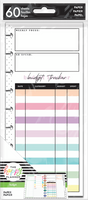 The Happy Planner - Me and My Big Ideas - Classic Refill Note Paper - Half Sheet - Bright Budget