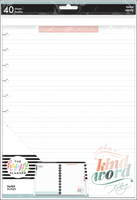 The Happy Planner - Me and My Big Ideas - Big Filler Paper - Love Letters (Hand Lettering Practice)