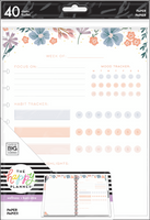 The Happy Planner - Me and My Big Ideas - Big Filler Paper - Florals (Wellness, Dot Grid Lined)