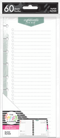 The Happy Planner - Me and My Big Ideas - Classic Refill Note Paper - Half Sheet - Ingredients