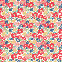 Riley Blake Fabric - Vintage Happy 2 by Lori Holt - Main Red #C9130R-RED