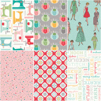 Riley Blake Fabrics - My Happy Place Home Decor by Lori Holt of Bee in my Bonnet - One Yard Bundle