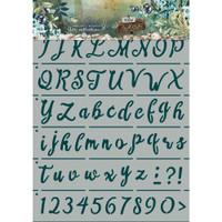 Studio Light - Jenine's Mindful Art New Awakening Stencil - Hand Lettering Alphabet