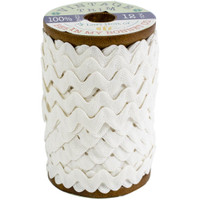 Riley Blake Designs - Lori Holt of Bee in my Bonnet - Large Vintage Trim - White - 3/8 inch (8mm) x 12 Yards