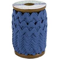 Riley Blake Designs - Lori Holt of Bee in my Bonnet - Large Vintage Trim - Denim - 3/8 inch (8mm) x 12 Yards