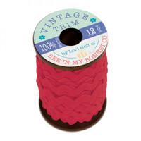 Riley Blake Designs - Lori Holt of Bee in my Bonnet - Large Vintage Trim - Jazzberry Jam - 3/8 inch (8mm) x 12 Yards