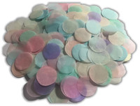 1/2 Cup Tissue Paper Confetti - Pastel - 1 inch Circles