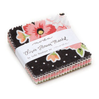 Moda Fabric Precuts - Mini Charm Pack - Olive's Flower Market by Lella Boutique
