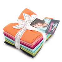 Moda Fabric Precuts - Designer Select Bella Colours  by V Co - Fat Quarter Bundle