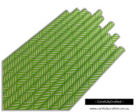25 Paper Straws - Lime Green Bamboo - #PS13