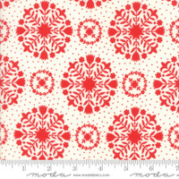 Moda Fabric - Handmade - Bonnie & Camille - Red Cream #55141-11