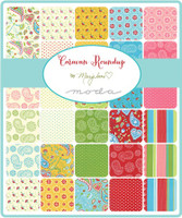 Moda Fabric Precuts Fat Eighth Bundle - Caravan Roundup