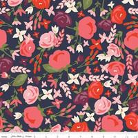 Riley Blake Fabric - Posy Garden - Carina Gardner - Navy #C5420