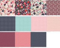 Riley Blake Fabric - Fat Eighth Bundle - Posy Garden - Carina Gardner -