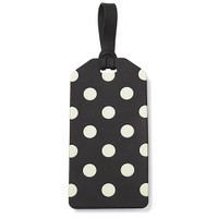 Kate Spade NY luggage tag - dot black and cream