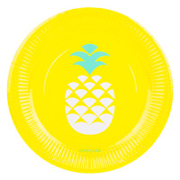 Paper Plate 12 Set - Pineapple