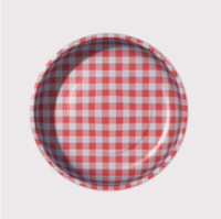 Pleasant Home - Magnetic Pin Bowl Gingham Red
