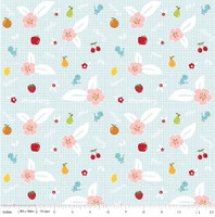 Riley Blake Fabric - Sweet Orchard Sedef Imer of Down Grapevine Lane - Aqua #C5481