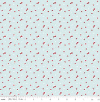 Riley Blake Fabric - Sweet Orchard Sedef Imer of Down Grapevine Lane - Aqua #C5483
