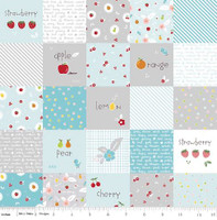 Riley Blake Fabric - Sweet Orchard Sedef Imer of Down Grapevine Lane - Aqua #DC5480