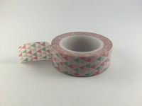 Washi Tape - Pink, Mint and White Triangles #938