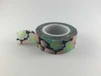 Washi Tape - Floral on Black #939
