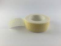 Washi Tape - Small Yellow Triangles on White #947