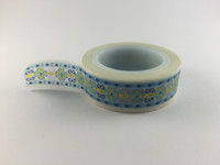 Washi Tape - Blue & Yellow Print #955