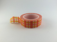 Washi Tape - Orange & Yellow Gingham #960