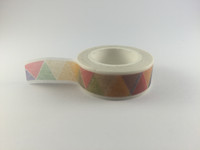 Washi Tape - Pale Rainbow Triangles #961
