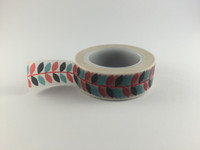 Washi Tape - Red, Blue & Black Vine #966