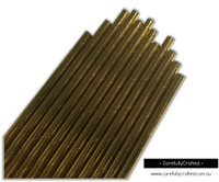 25 Paper Straws - Gold Foil - #PS34