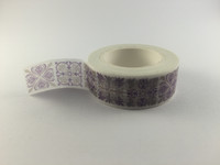 Washi Tape -  Grey & Purple Print #972