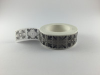 Washi Tape -  Black & Grey Print #973