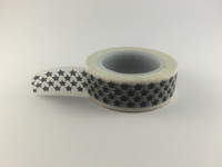 Washi Tape -  Black Stars on White #975
