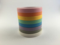 Washi Tape Set of 8 - Thin Pastel Solids - 5mm x 5 metres each - High Quality Masking Tape