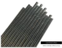 25 Paper Straws - Silver Foil - #PS38