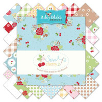 Riley Blake Fabric - Sew Cherry 2 - Lori Holt - Fat Quarter Bundle