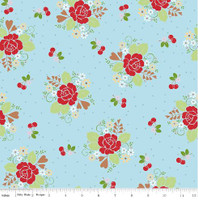 Riley Blake Fabric - Sew Cherry 2 - Lori Holt - Aqua #C5800