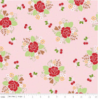 Riley Blake Fabric - Sew Cherry 2 - Lori Holt - Pink #C5800