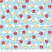 Riley Blake Fabric - Sew Cherry 2 - Lori Holt - Aqua #C5801