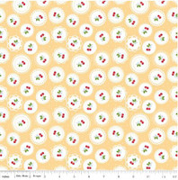 Riley Blake Fabric - Sew Cherry 2 - Lori Holt - Yellow #C5802