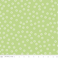 Riley Blake Fabric - Sew Cherry 2 - Lori Holt - Green #C5803