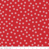 Riley Blake Fabric - Sew Cherry 2 - Lori Holt - Red #C5803