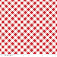 Riley Blake Fabric - Sew Cherry 2 - Lori Holt - Red #C5808